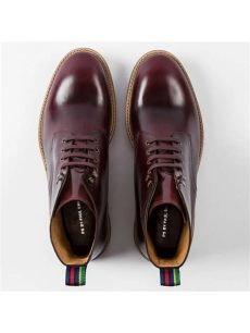 paul smith hamilton lace up leather boots burgundy at lewis partners - Smith Shoes Hamilton