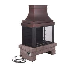 lowes outdoor fireplaces propane bond 50 000 btu composite outdoor liquid propane fireplace at lowes