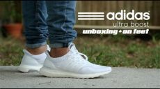 white adidas ultra boost on feet adidas ultra boost white 2 0 unboxing on