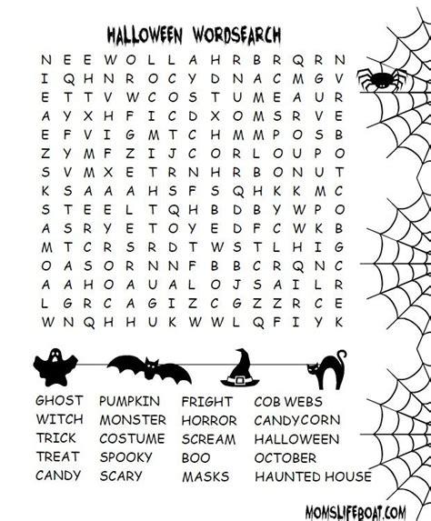 halloween word search halloween word search halloween words