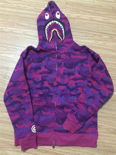 free shipping bape shark hoodies camo shark hoodies zip up purple in hoodies - Bape Shark Hoodie Purple Price