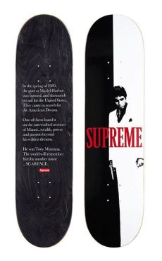supreme skateboard deck uk supreme scarface quot soldout quot split skateboard deck confirmed order skate decks supreme
