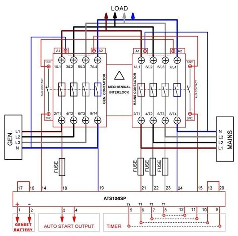 automatic transferred switch ats circuit diagram electrical engineering
