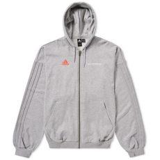 gosha rubchinskiy adidas hoodie zip gosha rubchinskiy adidas zip up hoodie in grey modesens