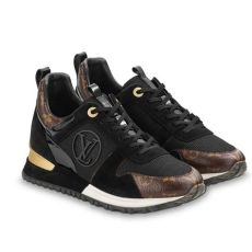 louis vuitton black and gold run away sneaker sneakers size eu 37 approx us 7 regular m b - Louis Vuitton Shoes Sneakers Price