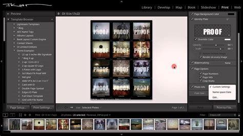 julieanne kost create contact sheet adobe lightroom youtube