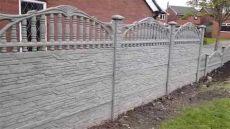 concrete fence panels cost uk p a fencing decorative concrete fence panels york