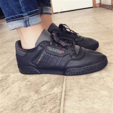 adidas yeezy powerphase calabasas core black on feet yeezy powerphase calabasas black adidas cg6420 goat