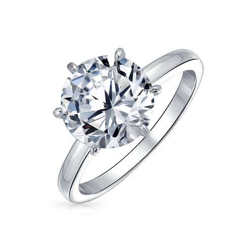 shop 3ct solitaire cubic zirconia aaa cz engagement