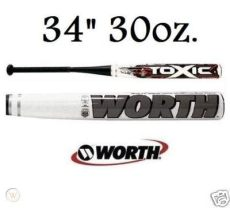 2010 worth titan softball bat 2010 worth toxic titan 98 softball bats 34 30 sbttnc 66503274