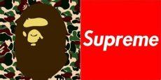 supreme bape logo the cost of bape vs supreme agoodoutfit