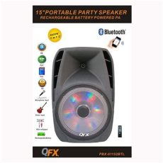 bocina qfx bluetooth recargable qfx bocina 15 quot lificada recargable usb bluetooth radio fm tepito club