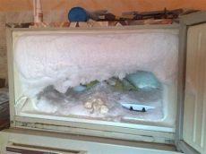 porque sale hielo en el congelador las fotos alucinantes congelador con un poco de hielo