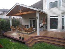 open gable patio cover plans open gable patio cover a trex brasilia deck in nw corvallis yelp