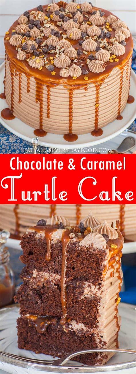 chocolate turtle cake video recipe tatyana everyday food