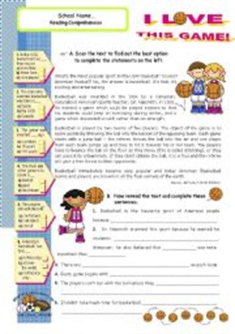 english exercises basketball