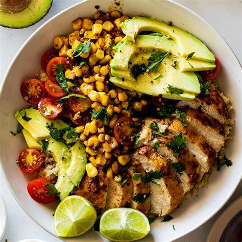 mexican chicken lunch bowls simply delicious