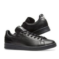 raf simons stan smith black adidas x raf simons stan smith black end