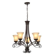 home depot hton bay lighting hton bay essex 5 light aged black chandelier with tea stained glass shades 14707 the home depot