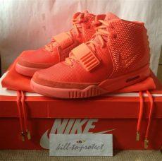 nike air yeezy 2 october sz us6 uk5 5 kanye west 508214 660 legit receipt ebay - Nike Air Yeezy 2 Red October Ebay