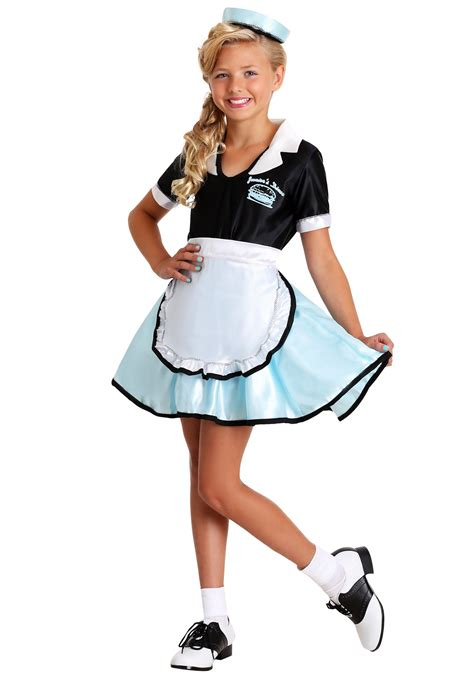 50s Car Hop Girls Costume 50s Halloween Child