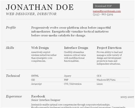 free html resume template resume templates cv resume