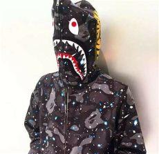 bape shark full zip hoodie ebay 2018 bape s coat a bathing ape space camo shark hoodie zip sweater coat ebay