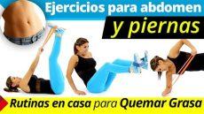 ligas para ejercicio caseras ejercicios para abdomen y piernas rutina de ejercicios en casa para quemar grasa con ligas