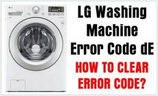 lg de error lg washing machine error code de how to clear