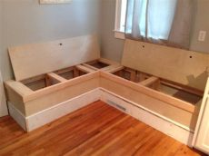 26 diy storage bench ideas guide patterns - Diy Corner Bench With Storage