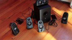 soporte para bocinas logitech z506 logitech z506 speakers unboxing setup sound test