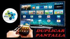 c 243 mo duplicar la pantalla de tu celular a un smart tv para usar la app tveo per 250 - Como Reparar Oscurecimiento De La Pantalla Smart Tv Samsung