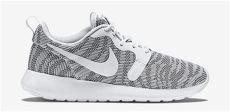 nike roshe run knit jacquard white cool grey sneakerfiles - Nike Roshe Run Knit Jacquard