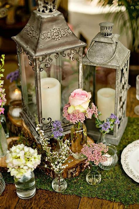 shabby chic vintage wedding decor ideas wedding centerpieces