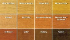 flood stain colors stains