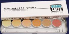 kryolan dermacolor camouflage cream palette kryolan dermacolor camouflage 6 color palette concealer foundation 71007 ebay