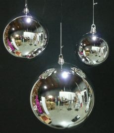 outdoor christmas ball ornaments 8 large silver 200mm plastic 8 quot diam outdoor ornaments ebay