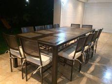 medidas de comedor de 10 sillas comedor de fierro modelo las condes 12 sillas rusti home armonia en tu hogar