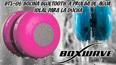 bocina para lificar la voz bts 06 bocina bluetooth resistente al agua ideal para la ducha boxwave