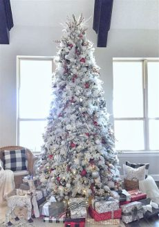 give your tree a flocking this christmas vancouver home tour flocked trees tree decorations cool trees