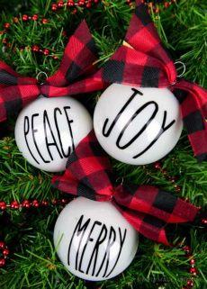 rae dunn christmas tree dunn inspired ornaments simply made