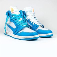 nike air jordan 1 off white blue nike x white air 1 unc blue crepslocker