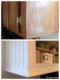 how to reface kitchen cabinets with beadboard farmhouse kitchen tips on how to reface cabinets using beadboard trim and caulk my s
