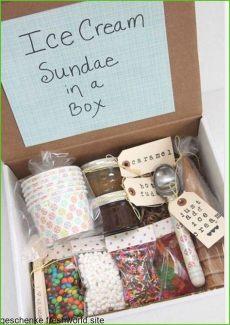 kleine geschenkideen fur freundin selbstgemacht geschenkideen f 252 r die beste freundin eis machen sie sich geschenkbox 16 geburt in 2020