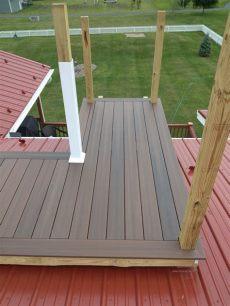 wood plastic composite deck veneer decking plastic wood composites top notch general construction