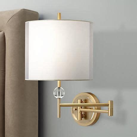 robert abbey koleman brass plug swing arm wall