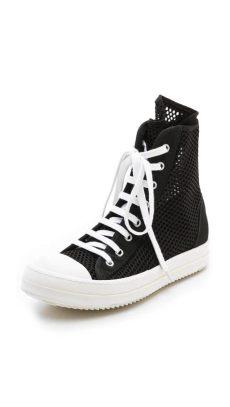 rick owens ramones high top drkshdw by rick owens ramones high top sneakers in black lyst