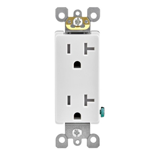 small resolution of leviton r52 t5825 00w duplex receptacle 20 amp 125 volt outlet tamper resistant nema 5 20r residential grade white qb electrical supplies inc