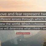 Sempre que possível, escolha o amor