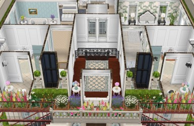 Two Story Sims Freeplay House Templates